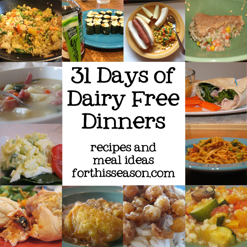 Dairy Free Dinner Recipes  31 Days of Dairy Free Dinners Recipes and Meal