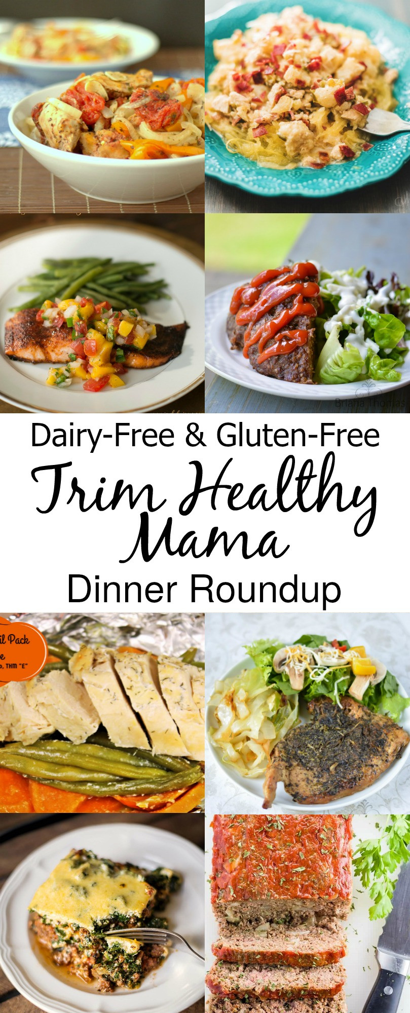 Dairy Free Dinner Recipes  Dairy Free and Gluten Free Trim Healthy Mama Dinners
