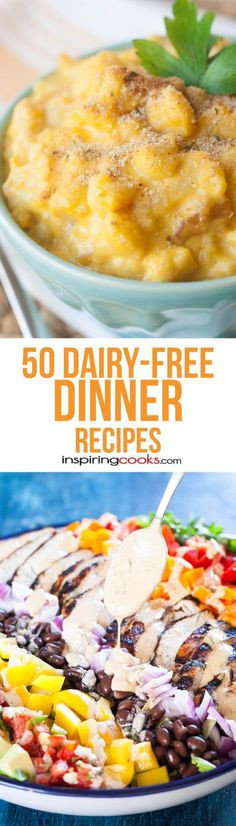 Dairy Free Dinner Recipes  1000 images about Dairy Free Dinner Time on Pinterest