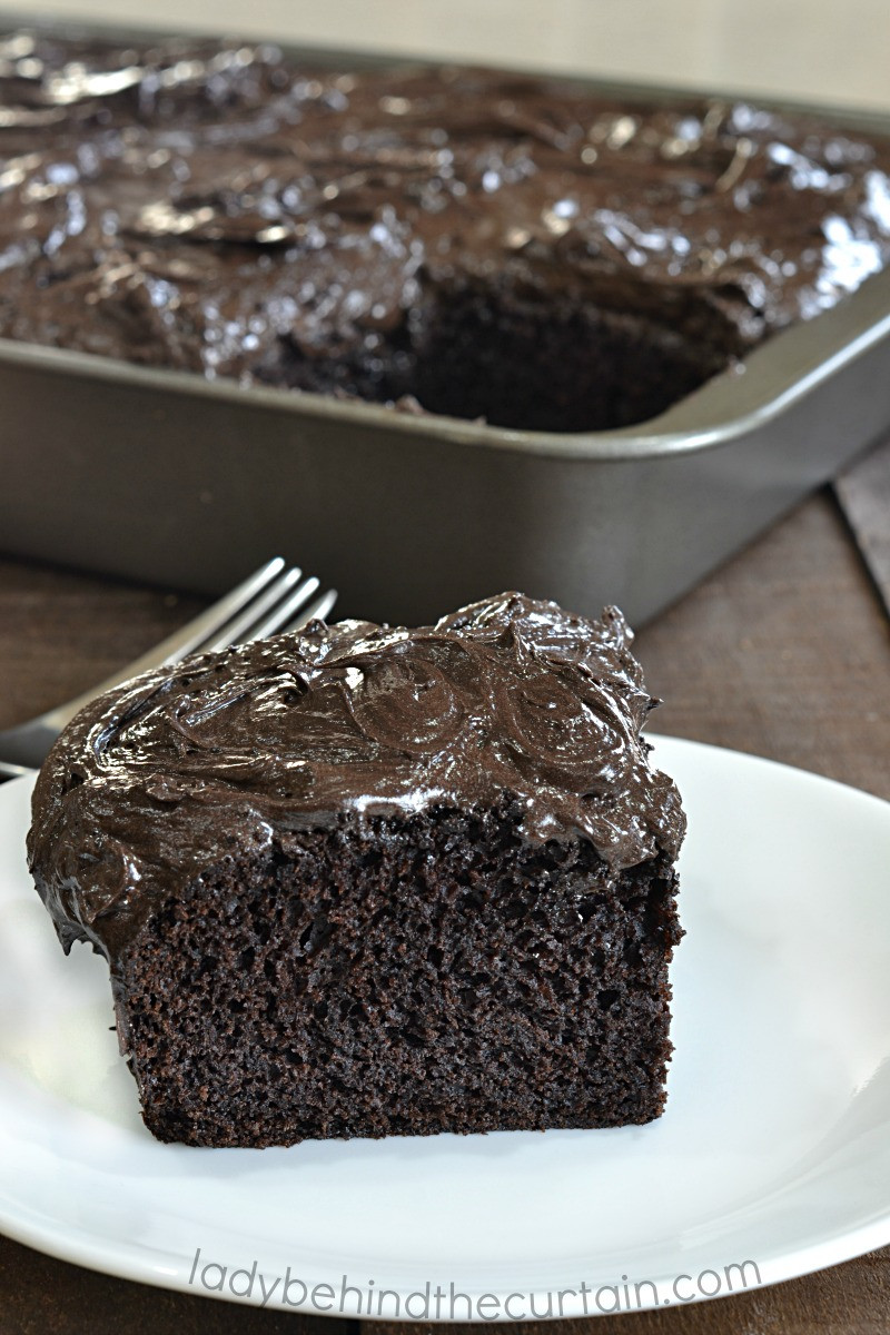 Dark Chocolate Cake  Dark Chocolate Cake Recipe birthday cake potluck recipe