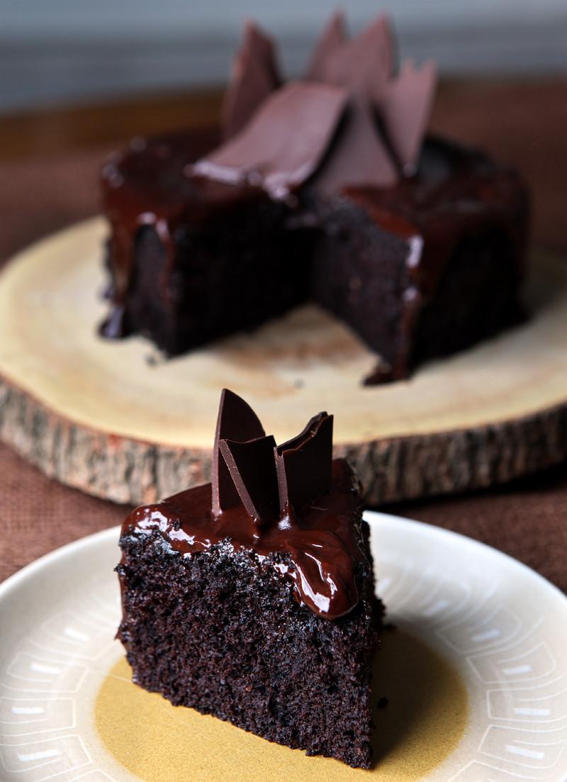 Dark Chocolate Cake  Red Wine Dark Chocolate Cake For Two