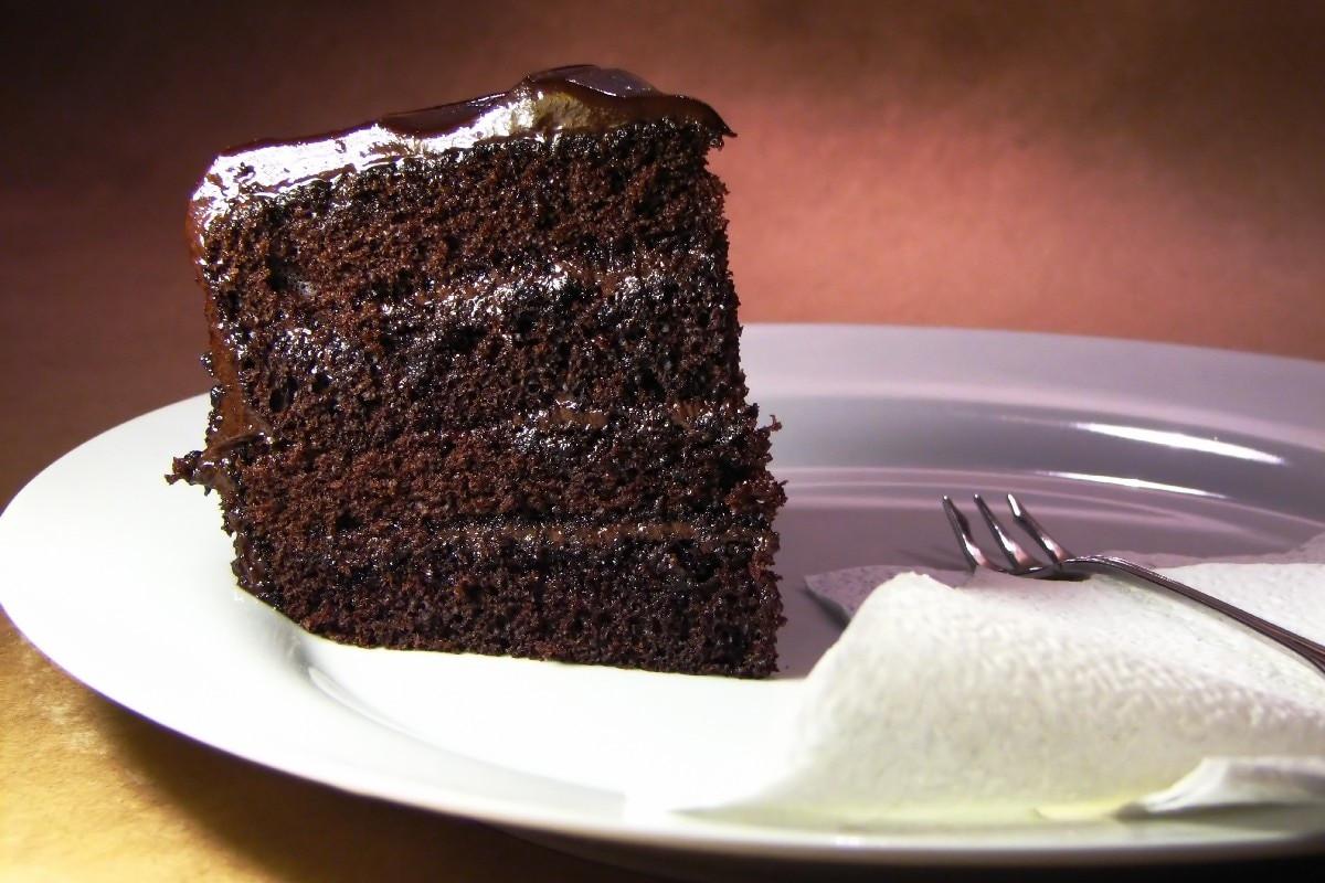 Dark Chocolate Cake  Dark Chocolate Cake KitchMe