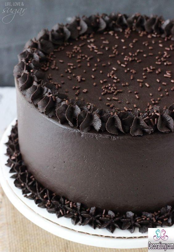 Dark Chocolate Cake  17 Tasty Chocolate Cake Recipe Decorating ideas
