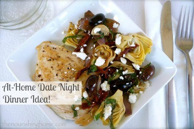 """Date Night Dinners  Mediterranean Chicken """"Date Night Dinner"""" GF The"""