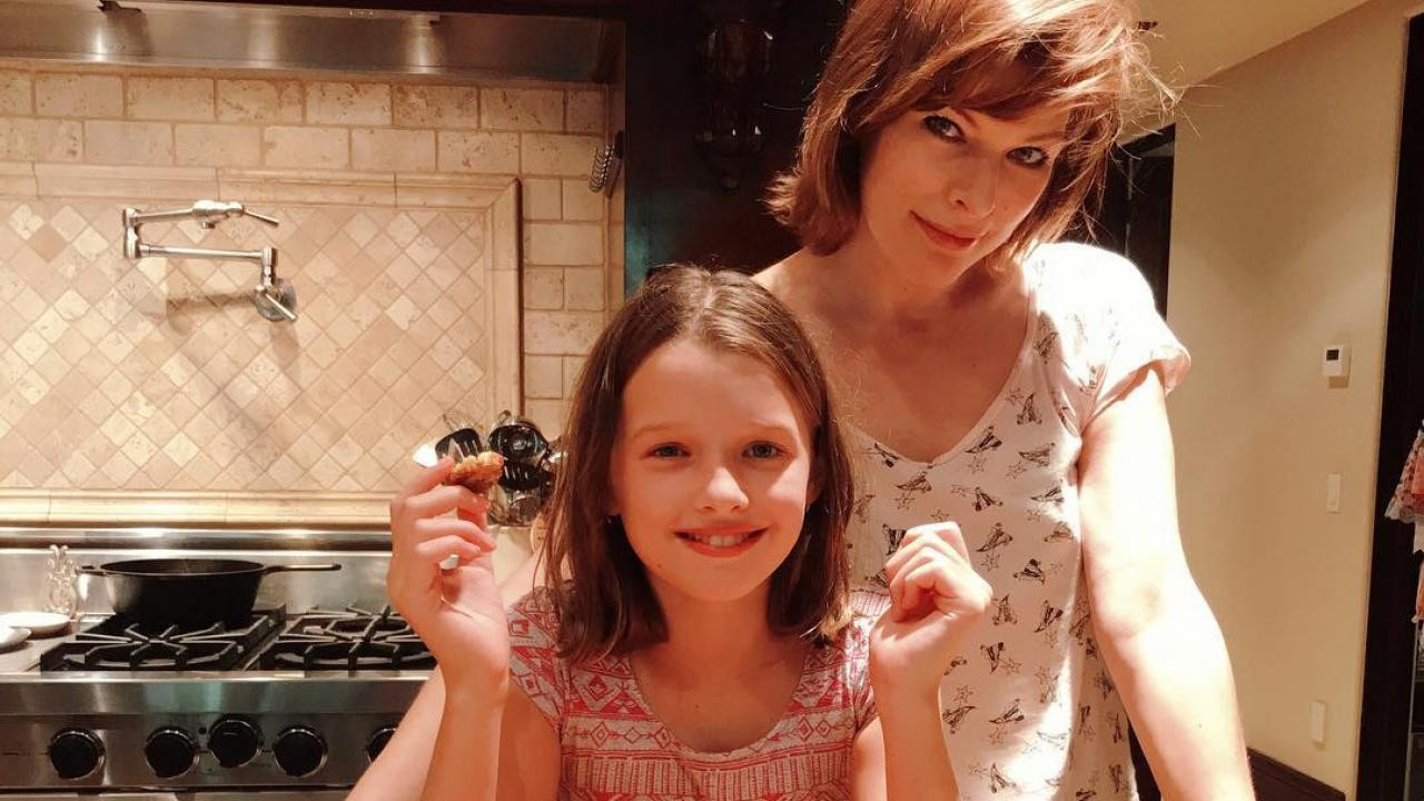 Daughter For Dessert Ch 8  Milla Jovovich s Sweet Birthday Wishes For Her