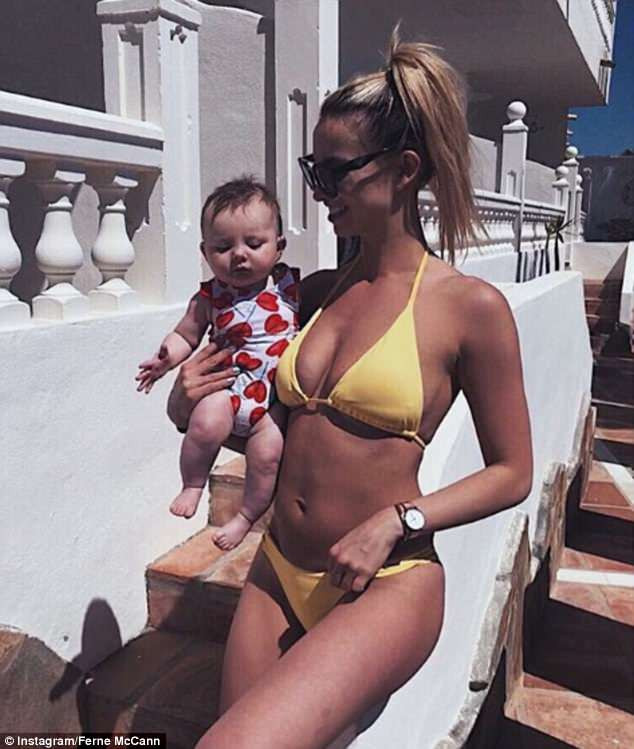 Daughter For Dessert Ch 8  Ferne McCann shares sweet snap with baby Sunday in Spain