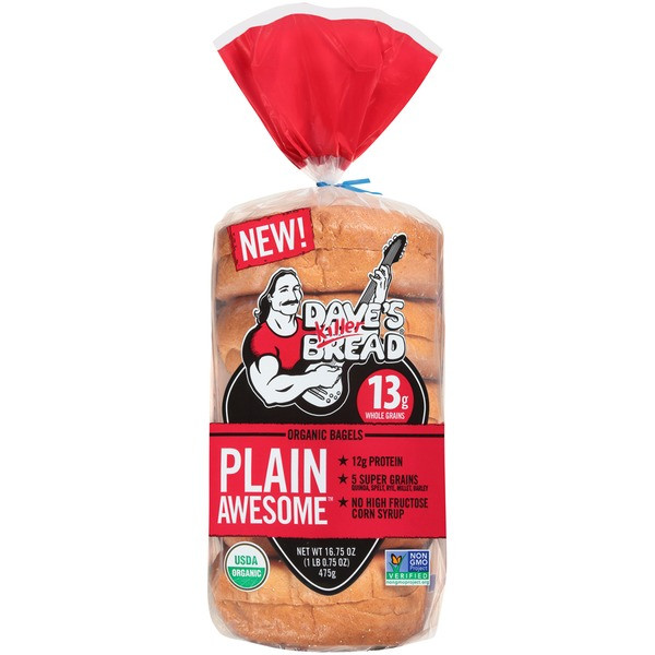 Dave'S Killer Bread Bagels  Dave s Killer Bread Plain Awesome Organic Bagels from
