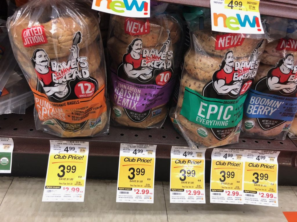 Dave'S Killer Bread Bagels  Dave s Killer Organic Pumpkin Spice Bagels Just $1 49 at