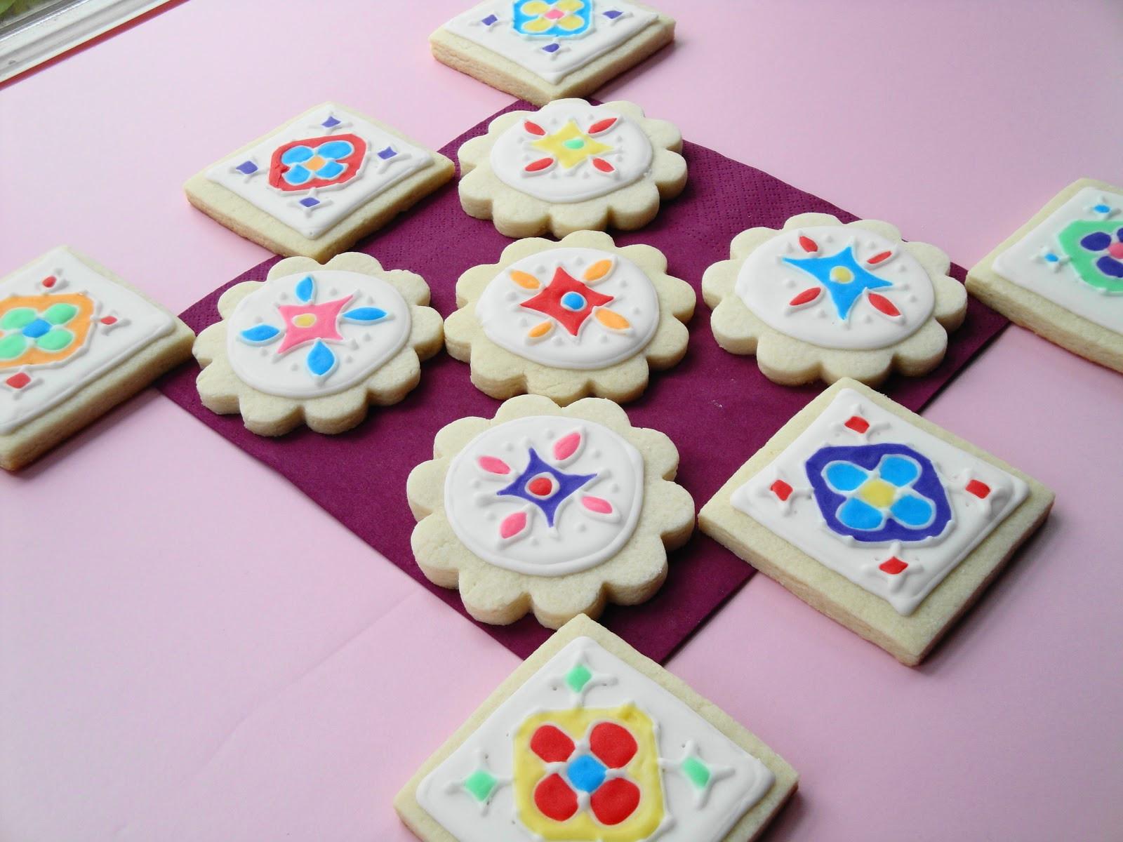 Decorated Sugar Cookies  cumin and cardamom Rangoli Decorated Sugar Cookies