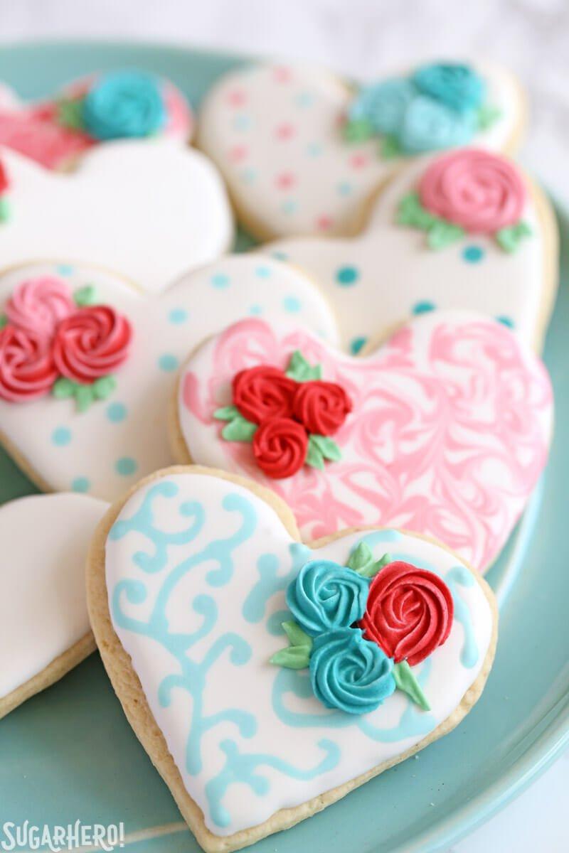 Decorated Sugar Cookies  Valentine s Day Sugar Cookies SugarHero