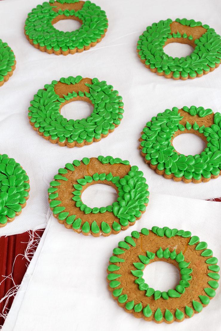 Decorated Sugar Cookies  Christmas Wreath Cookies