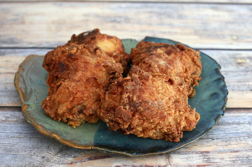 Deep Fried Chicken Thighs  Crispy Oven Fried Chicken Thighs or Legs