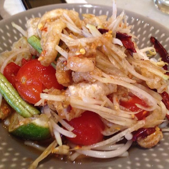 Deep Fried Chicken Thighs  Deep Fried Chicken Thigh at Somtum Der on Foodmento