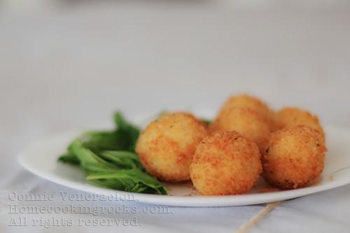 Deep Fried Mashed Potatoes  Mozzarella stuffed deep fried mashed potato balls CASA