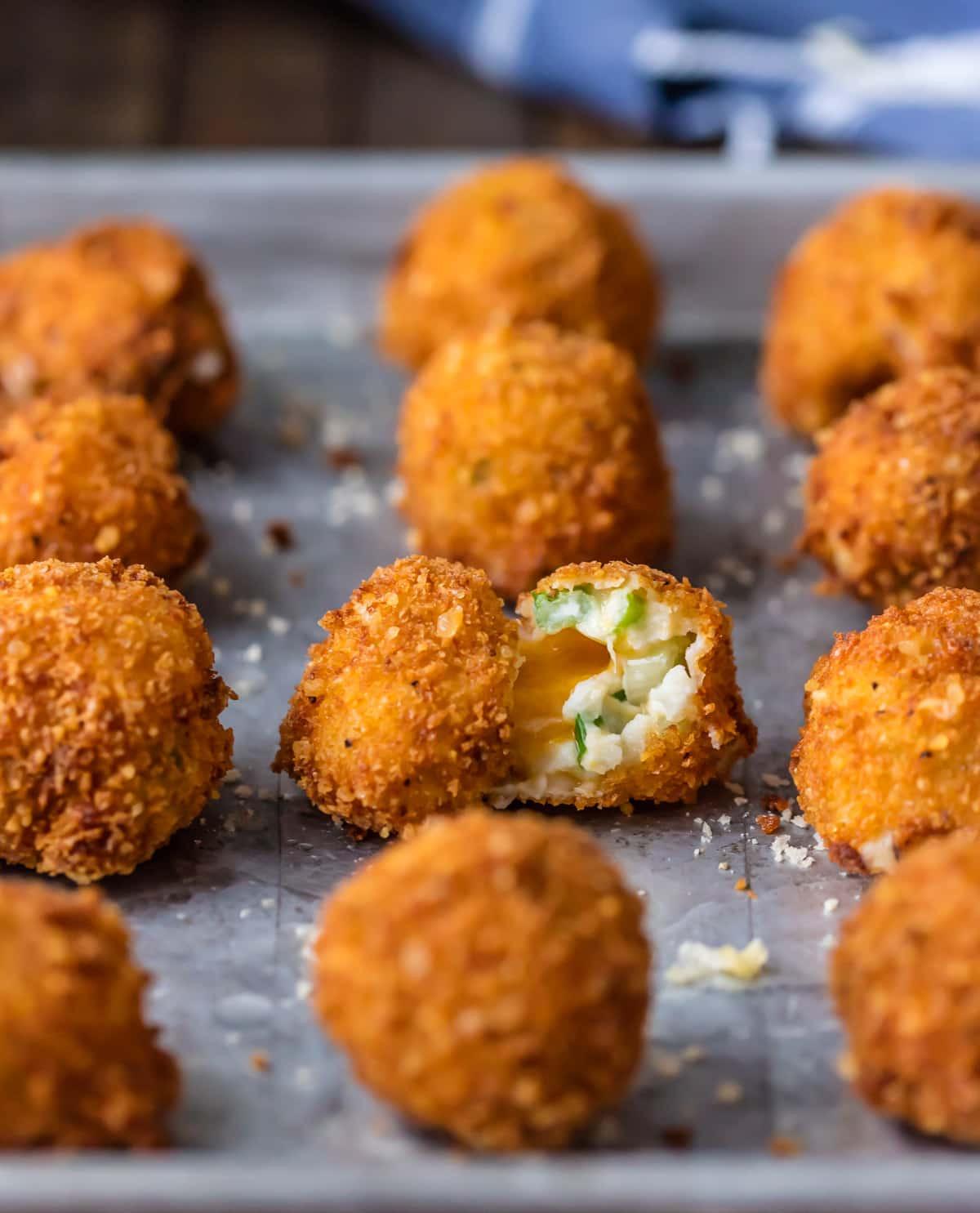 Deep Fried Mashed Potatoes  Fried Mashed Potato Balls Cheesy Loaded Mashed Potato