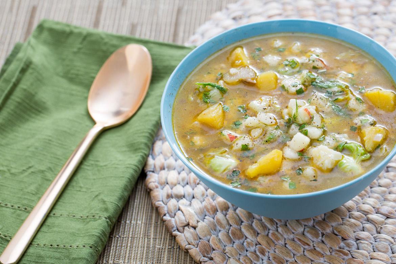 Delicata Squash Soup  Recipe Delicata Squash and Barley Soup with Crispy Oyster