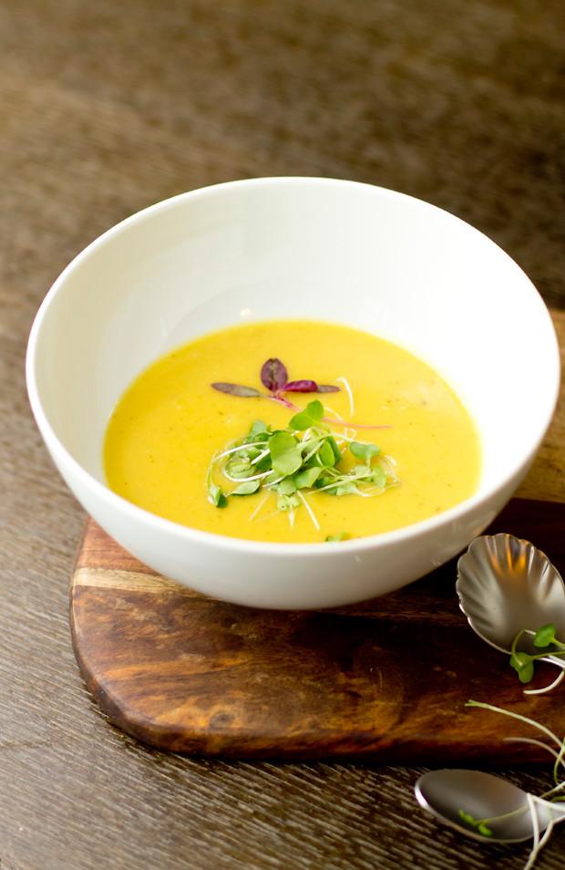 Delicata Squash Soup  delicata and butternut squash soup