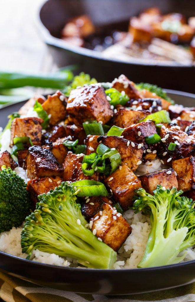 Delicious Tofu Recipes  Asian Garlic Tofu Spicy Southern Kitchen