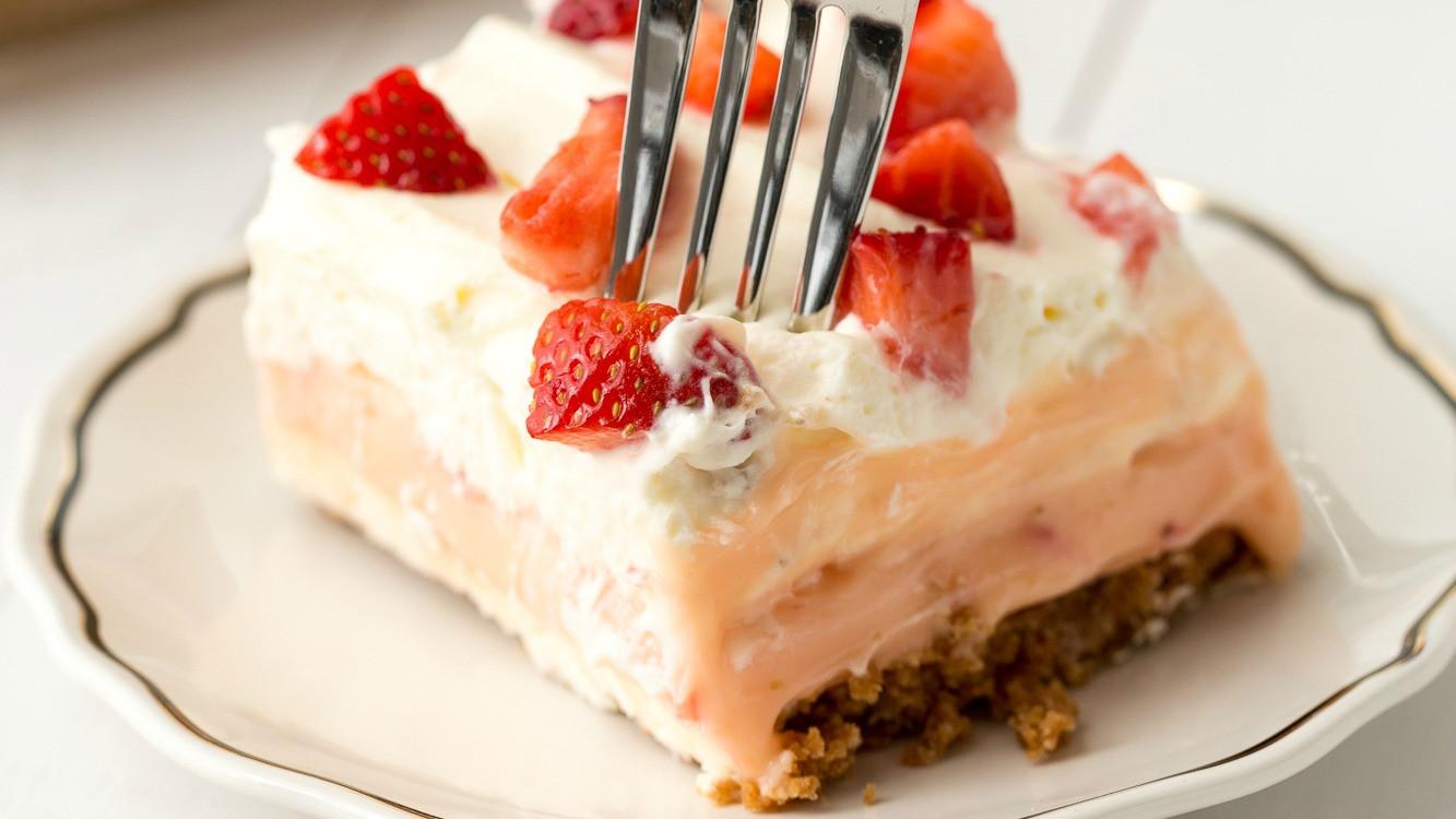 Delish Dessert Recipes  Strawberry Cheesecake Dessert Lasagna Best Dessert