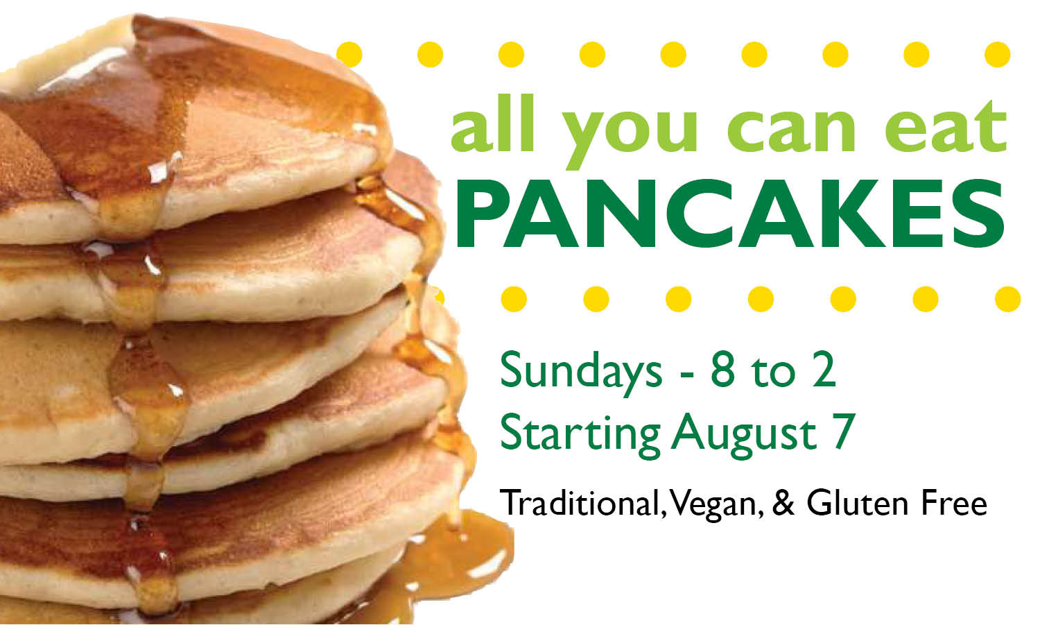 Denny'S All You Can Eat Pancakes  All You Can Eat Pancakes – Durham Co op Market