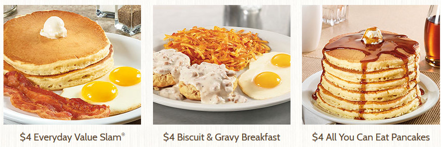 Denny'S All You Can Eat Pancakes  Denny's Value Menu $2 $8 All You Can Eat Pancakes $4