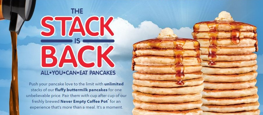 Denny'S All You Can Eat Pancakes  All You Can Eat Pancakes at IHOP Through 2 12