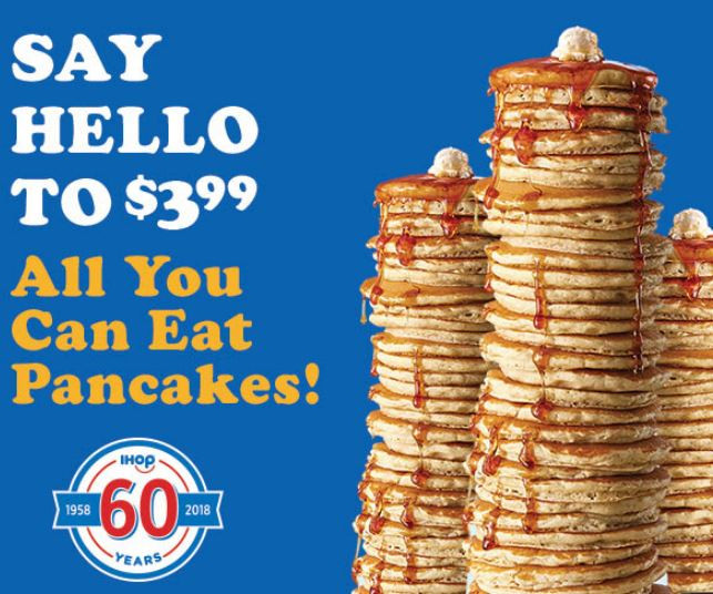 Denny'S All You Can Eat Pancakes  Ends in a WEEK IHOP All You Can Eat Pancakes now thru