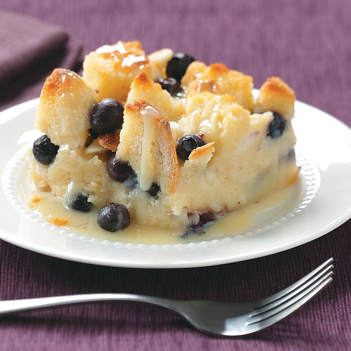 Dessert Bread Recipes  Over the Top Blueberry Bread Pudding Recipe
