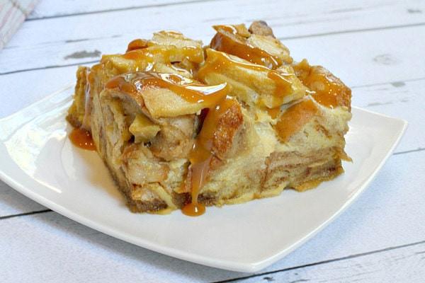 Dessert Bread Recipes  Caramel Apple Bagel Bread Pudding Recipe Girl