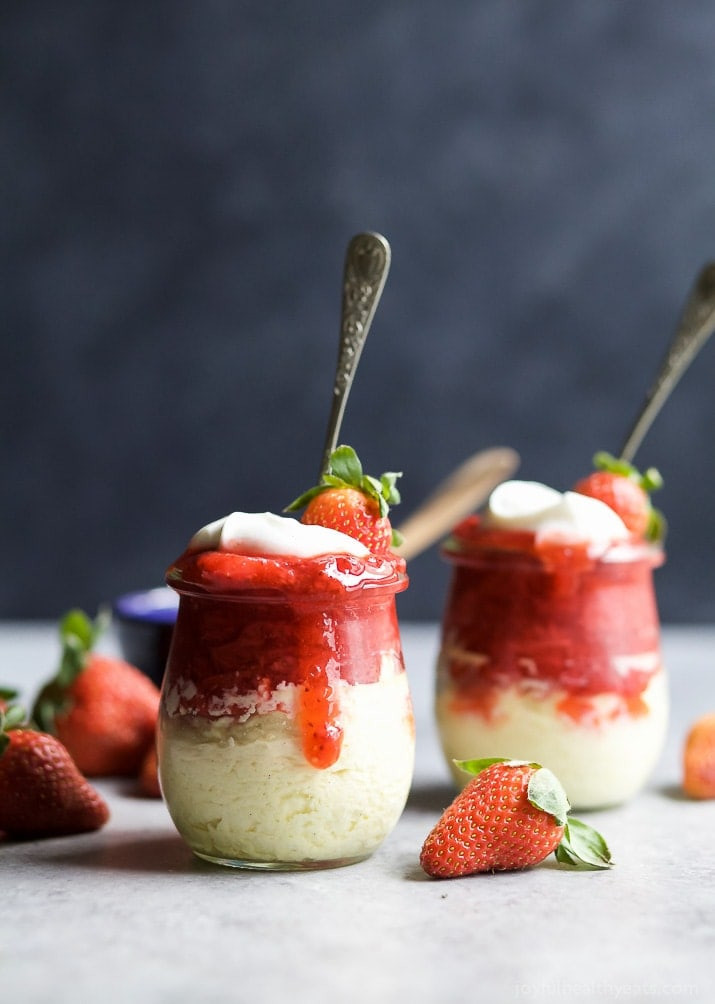 Dessert For Two  Skinny Cheesecake with Strawberries