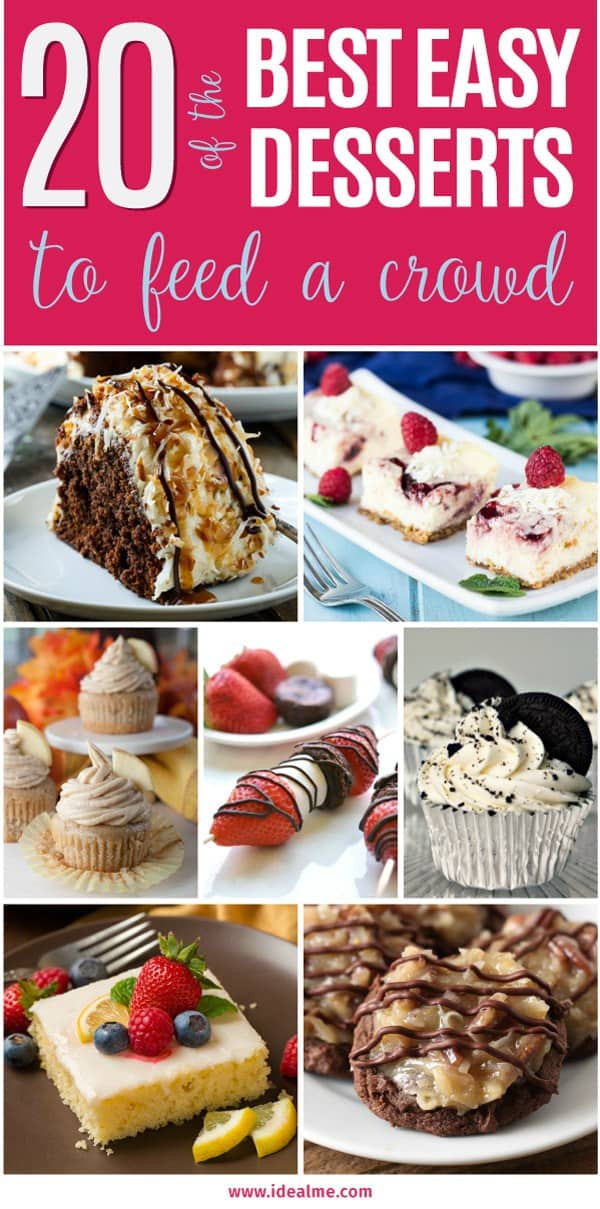 Dessert Ideas For A Crowd  easy desserts for a crowd