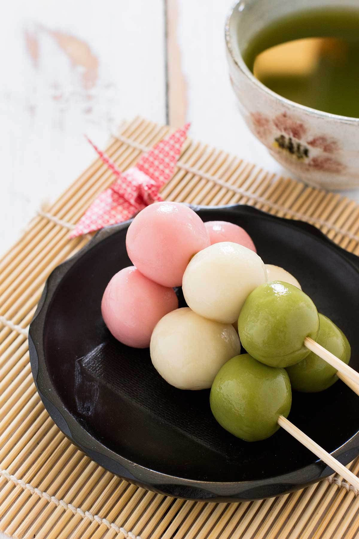 Dessert In Japanese  Sanshoku Dango kombuchaguru organic Also check out