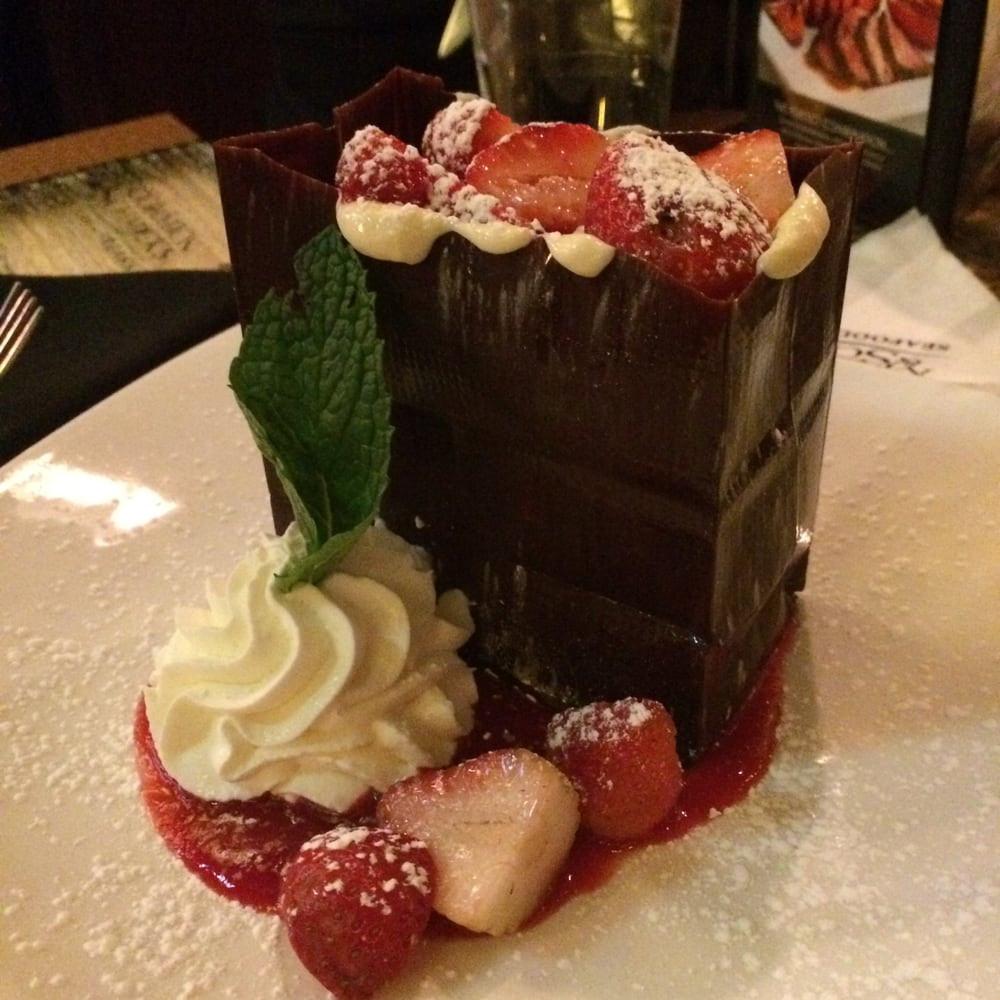 Dessert Kansas City  This chocolate bag is the most romantic desert on the