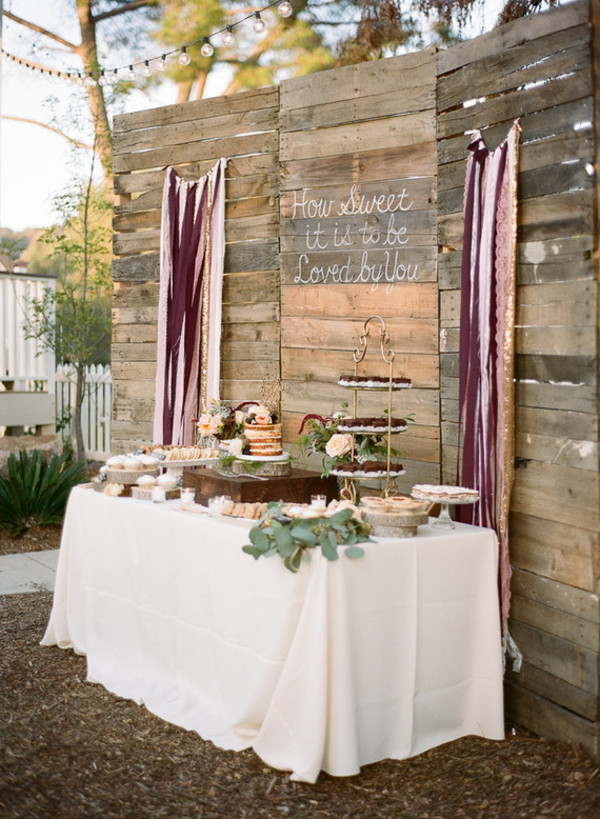 Dessert Table Backdrop  How To Create A Rustic Wedding Dessert Table