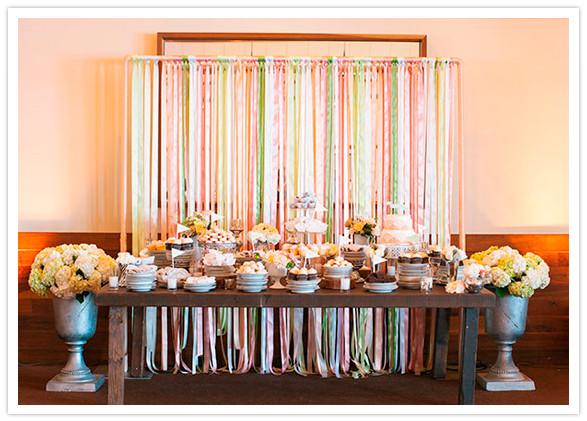 Dessert Table Backdrop  Lake Tahoe wedding Lauren Greg Real Weddings