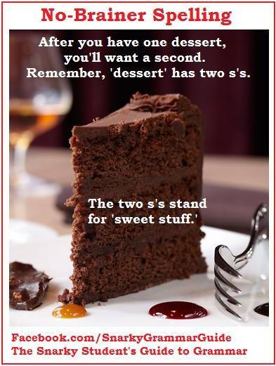 Dessert Vs Desert  Desert vs Dessert Easy Way to Remember the Difference
