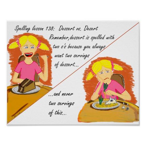 Dessert Vs Desert  Dessert vs Desert Poster