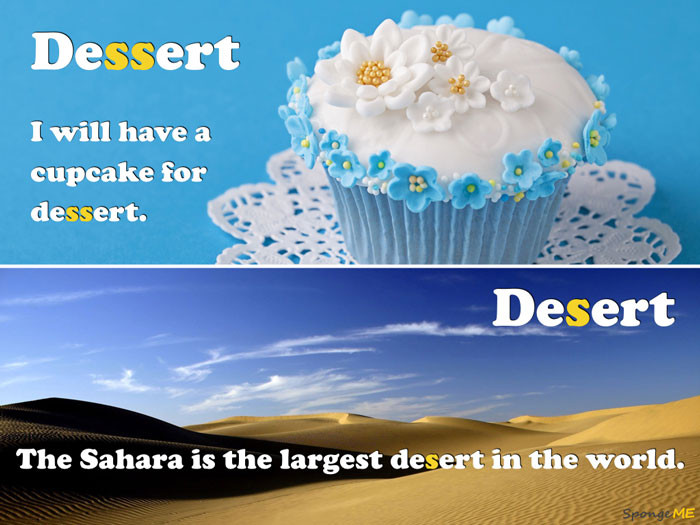 Dessert Vs Desert  English Spelling – Dessert vs Desert