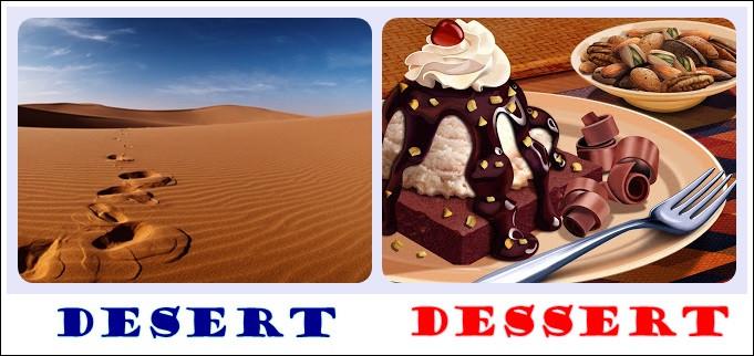 Dessert Vs Desert  August 2013