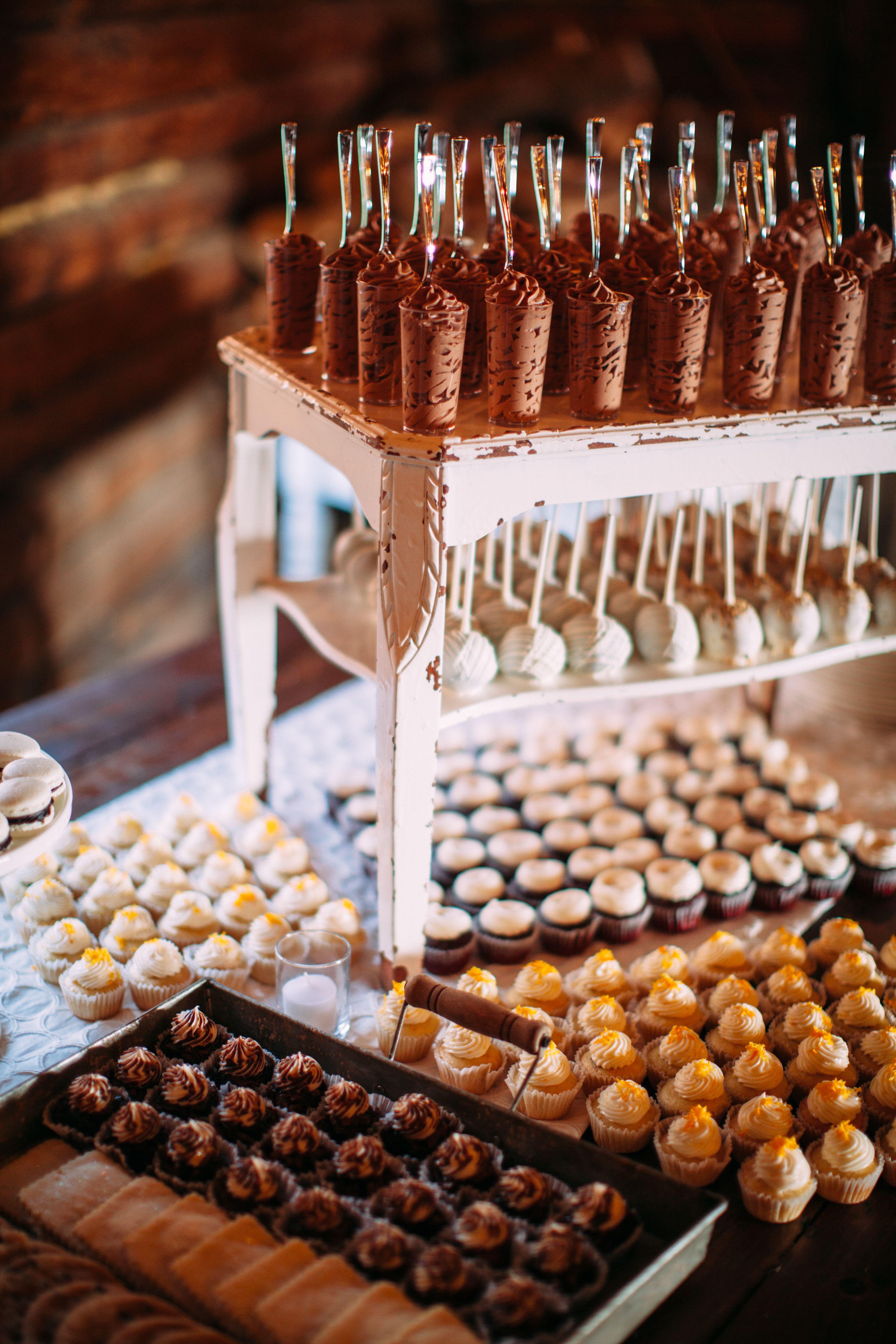 Dessert Wedding Reception  Chocolate Mousse Shooter Wedding Dessert Bar