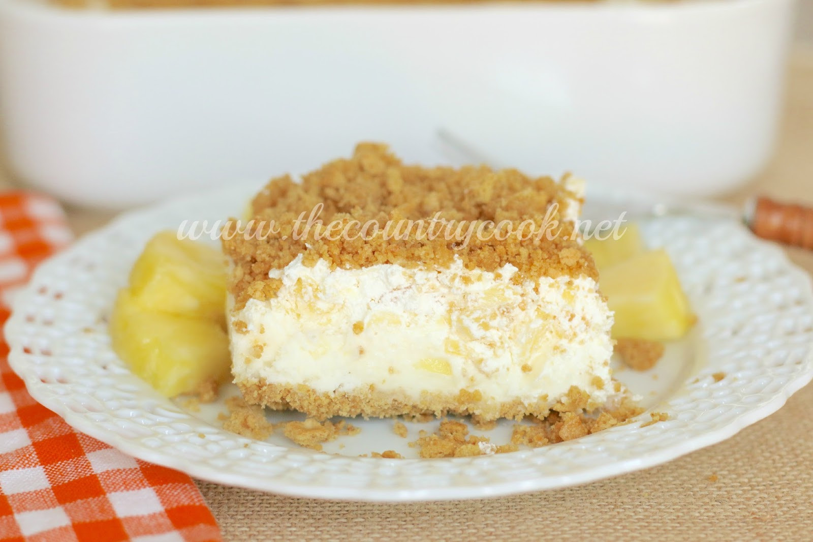 Dessert With Crushed Pineapple And Cool Whip  Pineapple Dream Dessert The Country Cook
