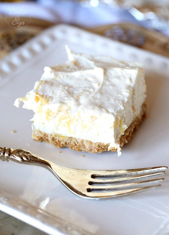 Dessert With Crushed Pineapple And Cool Whip  Potluck Cheesecake Dessert Cookies and Cups