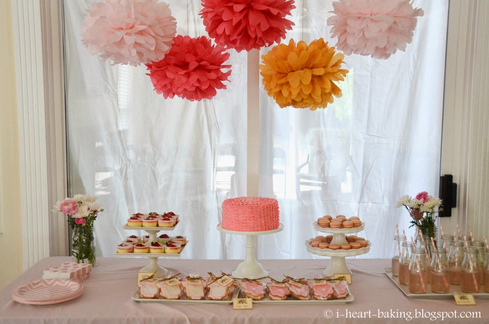 Desserts For Baby Shower  i heart baking pink baby shower dessert table sugar
