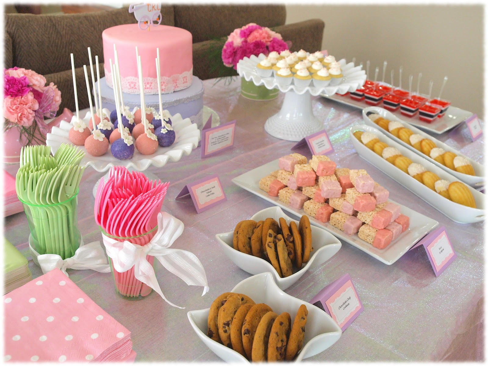 Desserts For Baby Shower  oc pop shoppe A Sweet Baby Girl