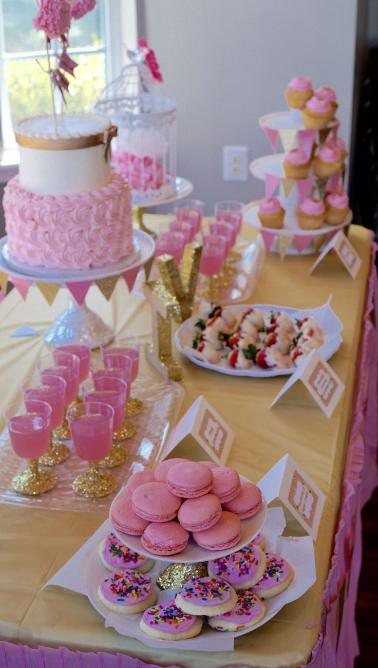 Desserts For Baby Shower  21 best images about DIY Ideas for Pink and Gold Baby