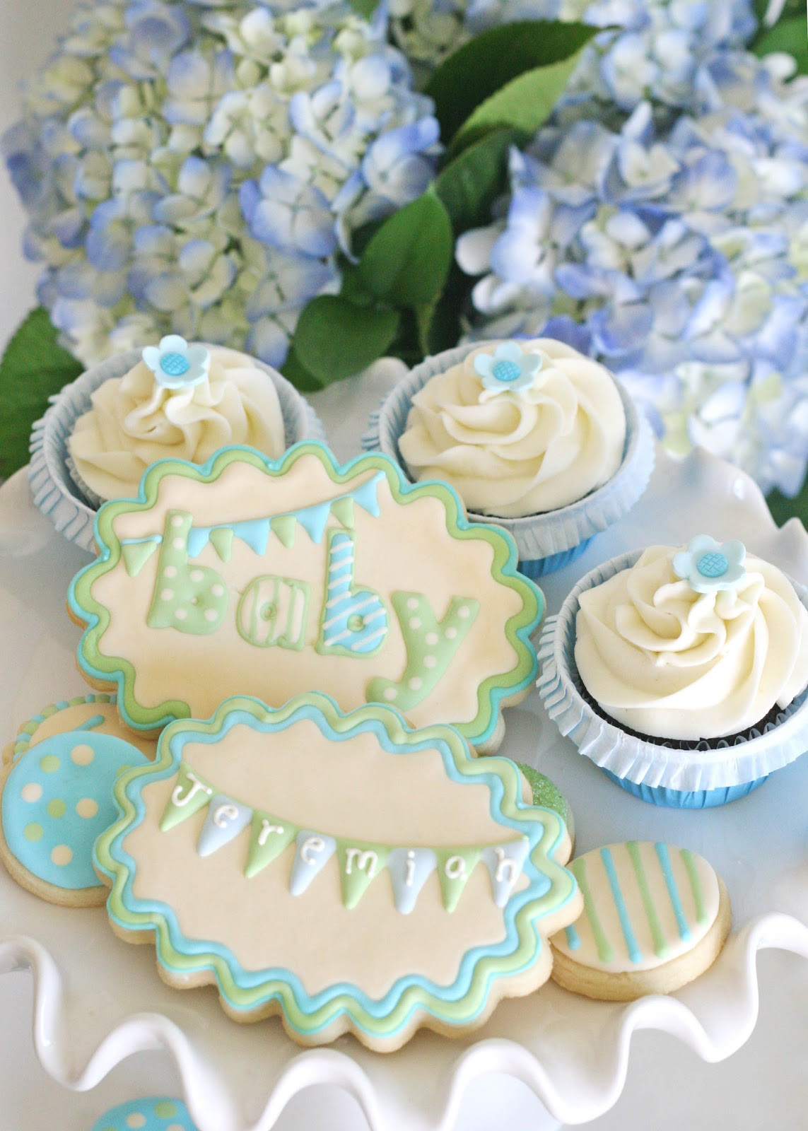 Desserts For Baby Shower  Vintage Bunting Baby Shower – Glorious Treats