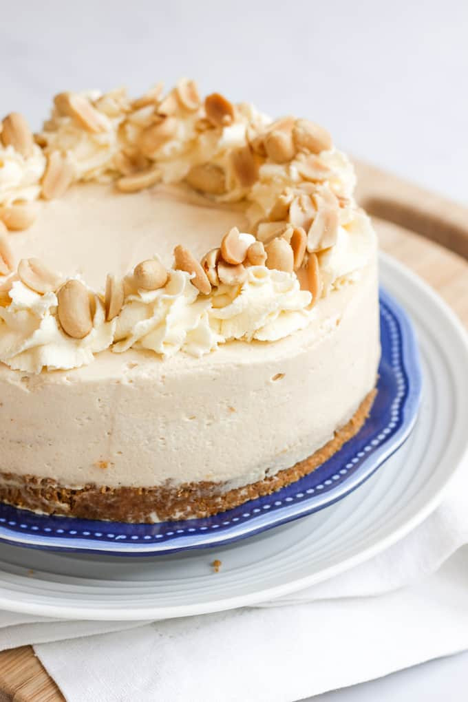 Desserts Made With Cream Cheese  Peanut Butter Cheesecake Recipe Taming Twins