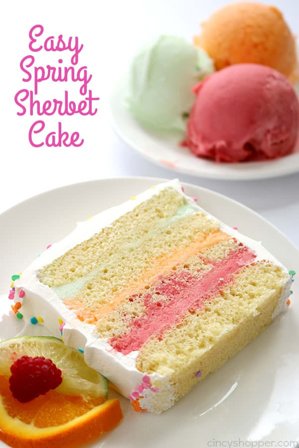 Desserts That Start With A  Easy Spring Sherbet Cake CincyShopper