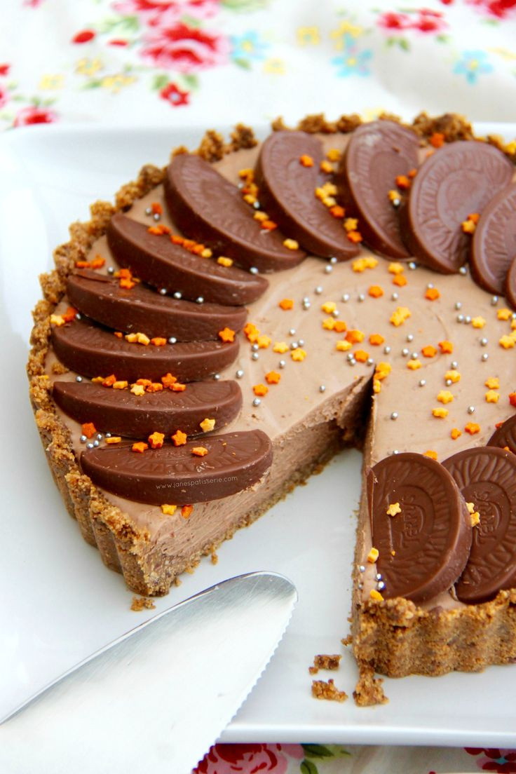 Desserts That Start With C  A DELICIOUS No Bake Terry's Chocolate Orange Tart – a No