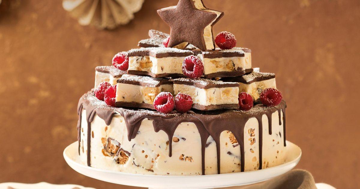 Desserts That Start With H  Honey b ice cream cake with shortbread stars
